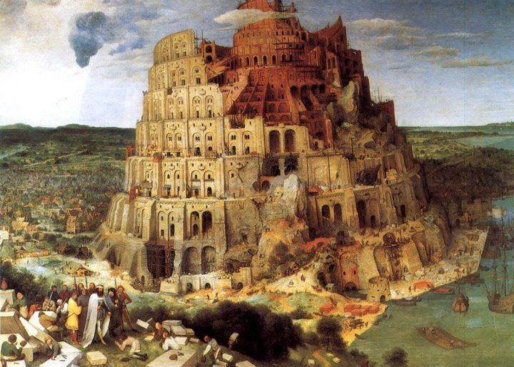 Pieter Bruegel il Vecchio, la Torre di Babele (1563). Una delle opere più celebri di sempre, un capolavoro del grande Bruegel.