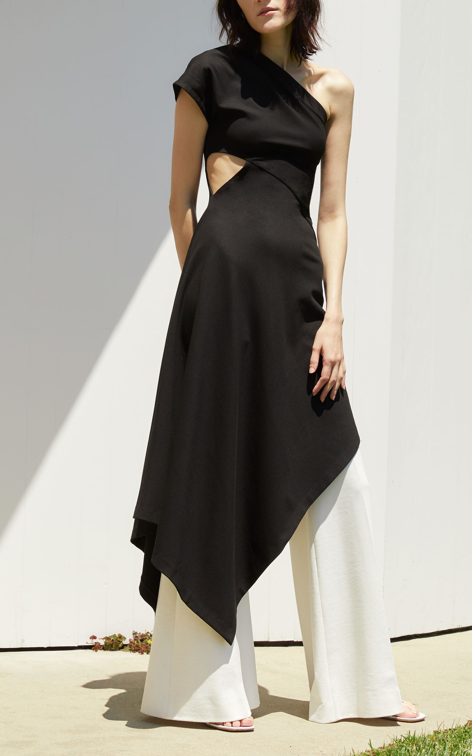 High Waisted Flared Trousers by ROSETTA GETTY for Preorder on Moda Operandi