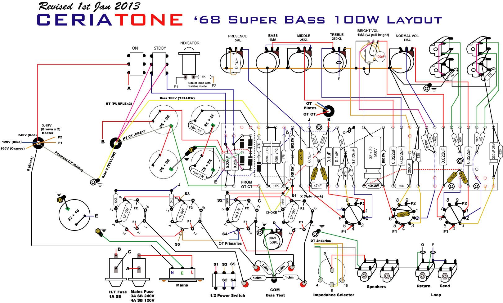 SuperBass100.jpg (1621×978) Electronic Schematics, Valve Amplifier, Bass  Amps