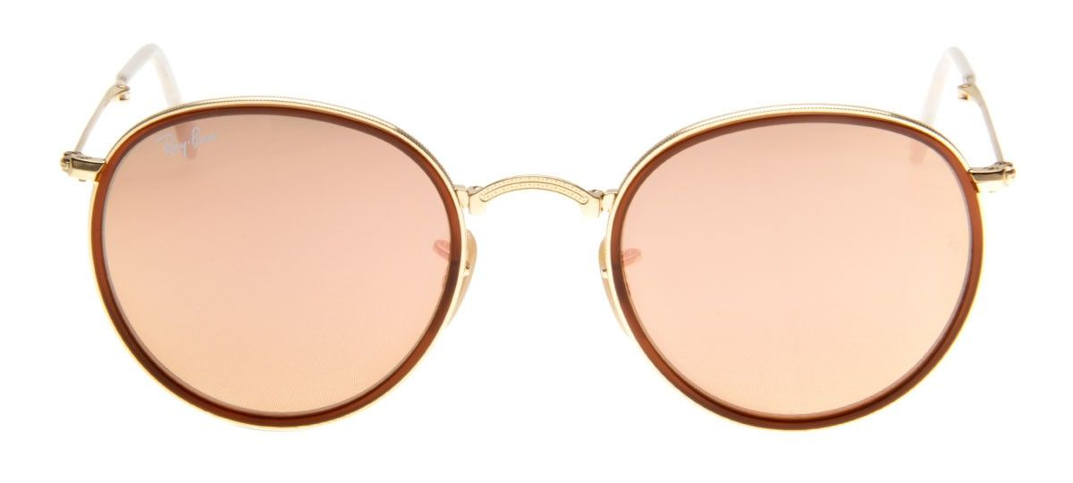 Óculos Ray-Ban Round Dobrável Espelhado - RB3517 51 - Dourado 818b238de8