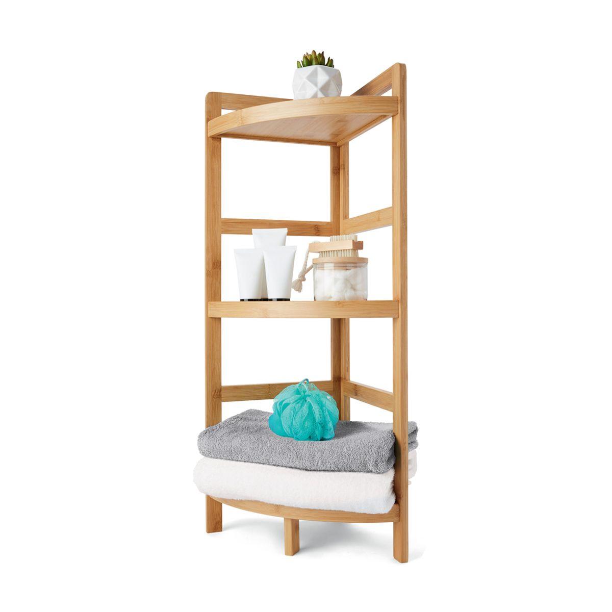 Bamboo 3 Tier Corner Shelf Corner Shelves Bamboo Shelf Shelves