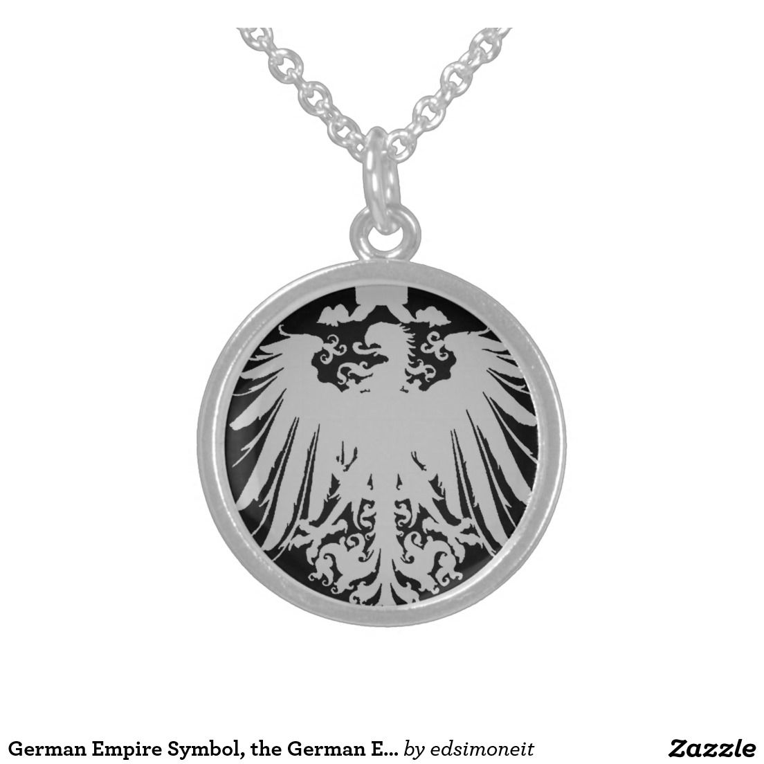German Empire Symbol The German Eagle 1888 Sterling Silver Necklace