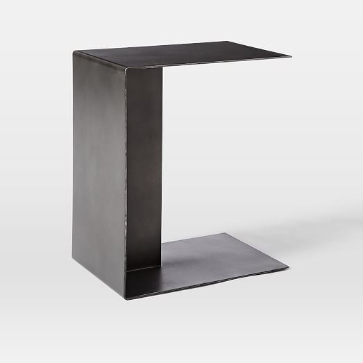 499 Dimensions 17 W X 12 D 20 H Hayes C Shaped Side Table West Elm