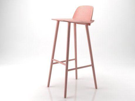 Nerd Barkruk Muuto : Nerd bar stool d model by design connected in bar chair