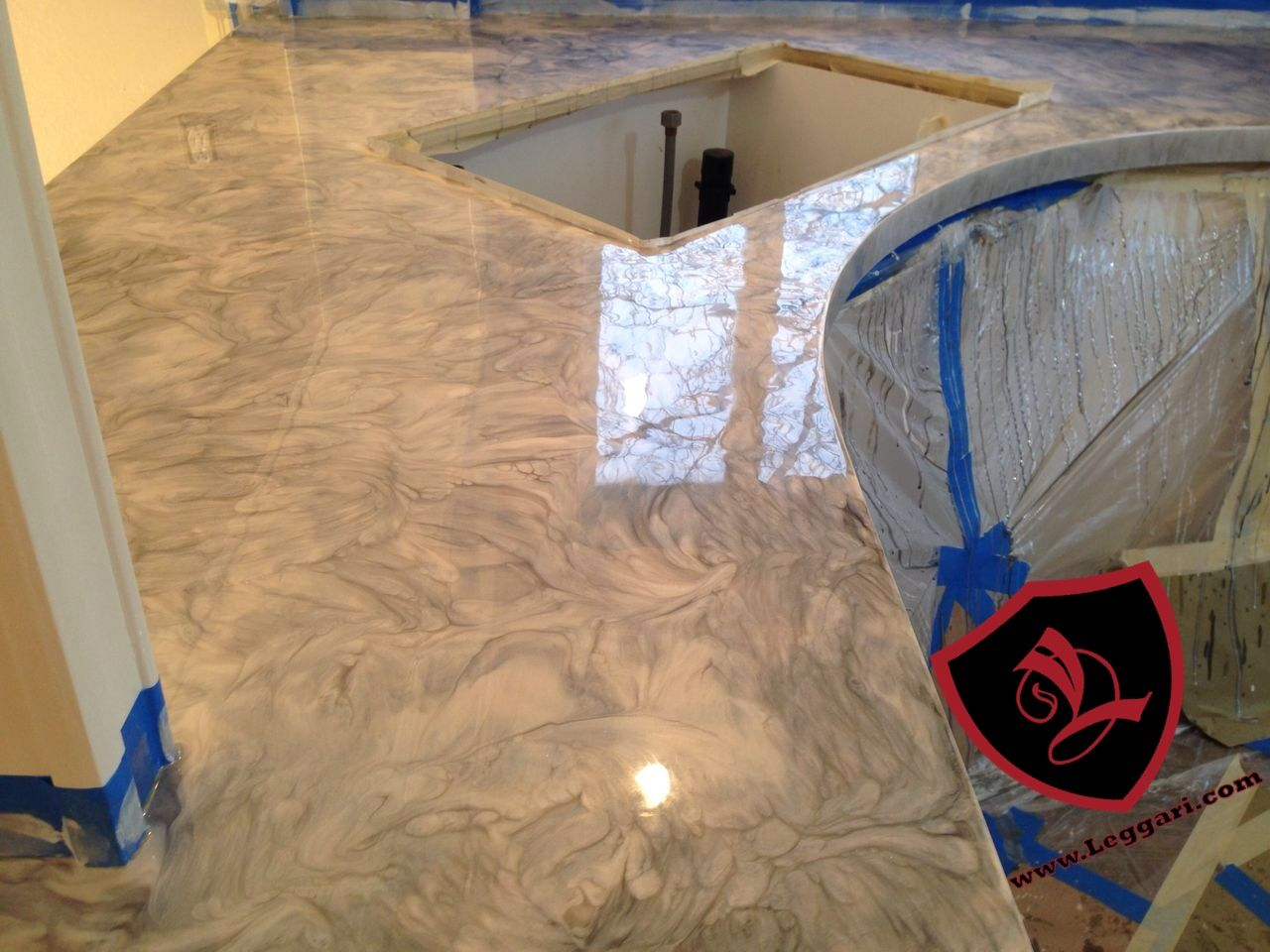 This Countertop Was Coated With A Leggari Products Diy Metallic