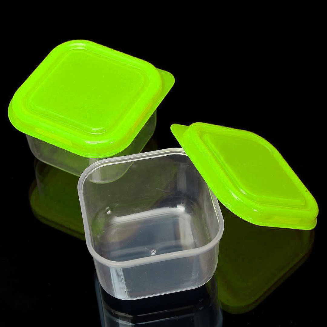 Mini Square Plastic Food Freezer Kitchen Storage Container With Lid