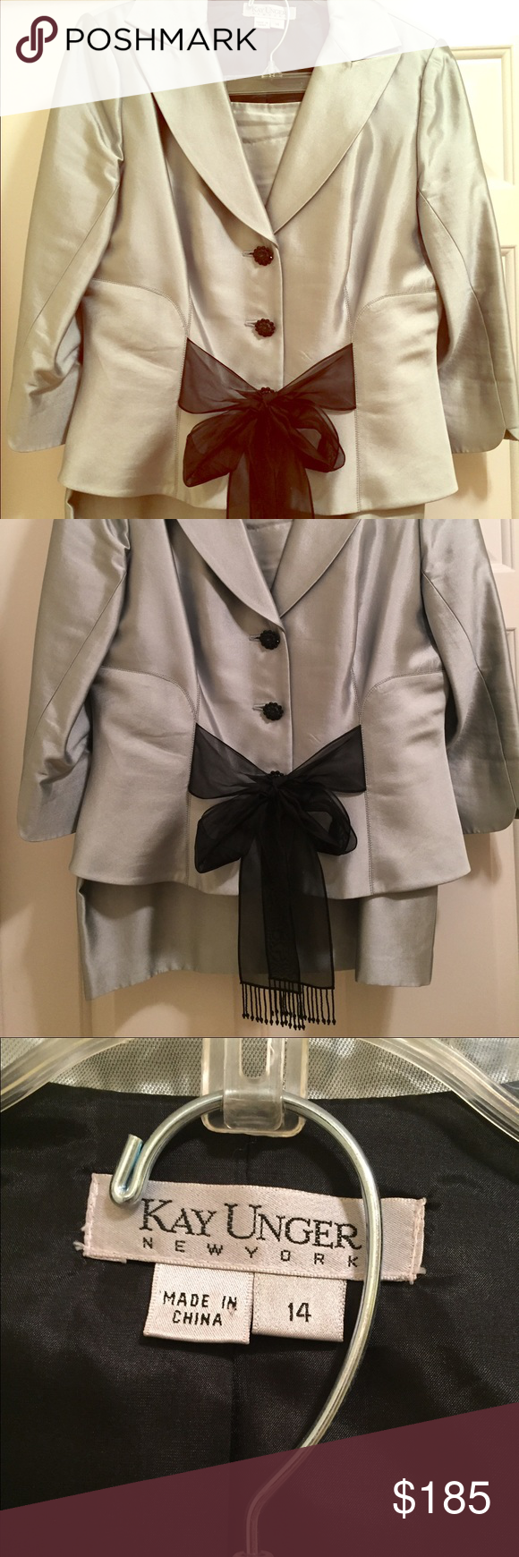 Kay Unger 2 piece suit, size 14 Stunning 2 piece suit. Worn once. Size 14. Comment for inquiries Dresses