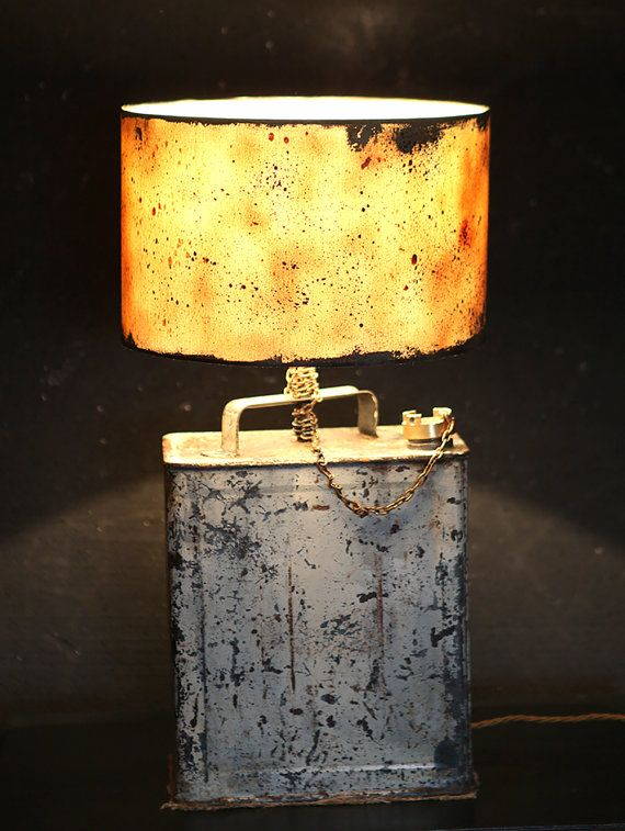 The Shell Oil Can Lamp by NiceAnubis on Etsy   custom lamps ...