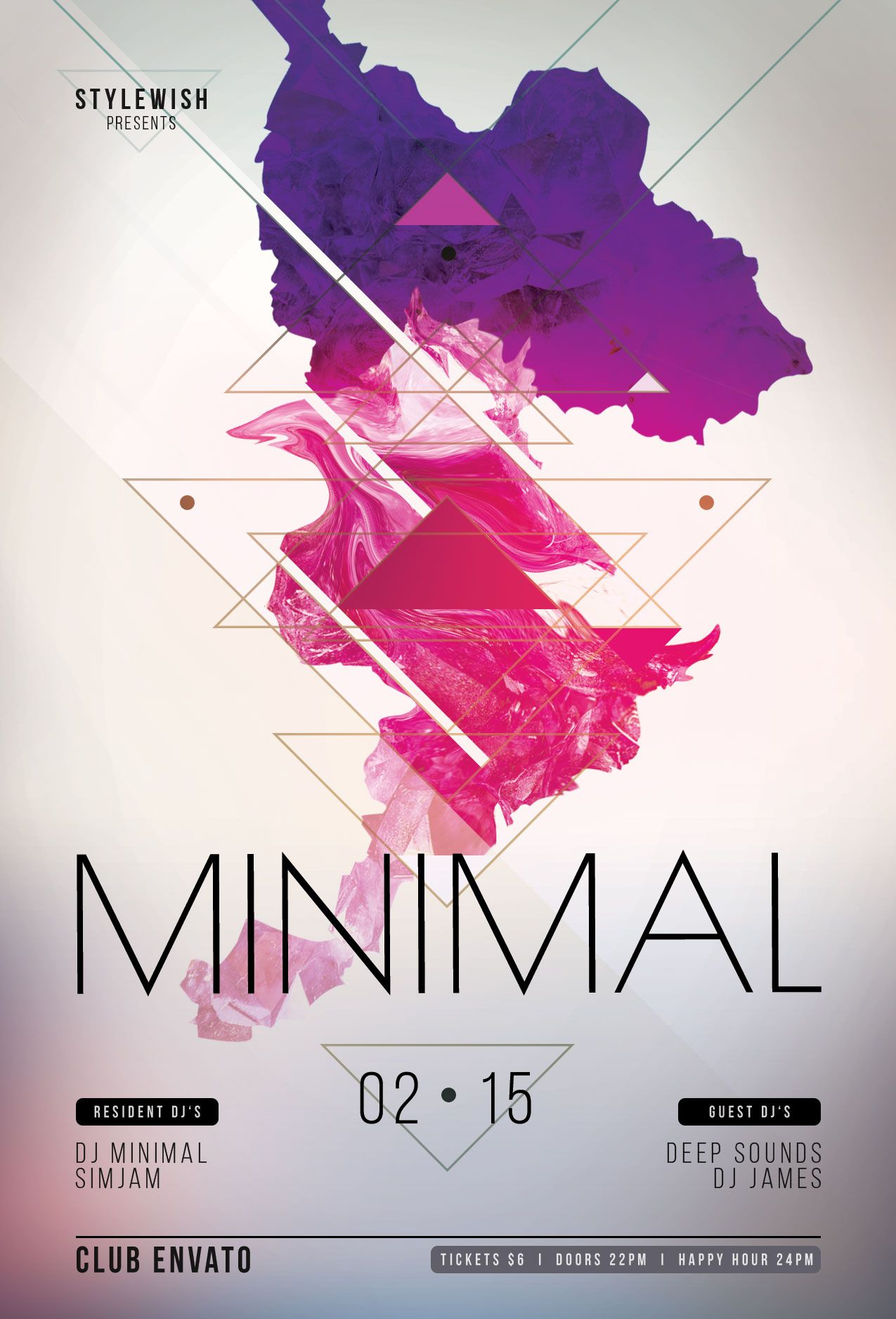 Minimal Flyer Template  Download PSD file - $6 | Party