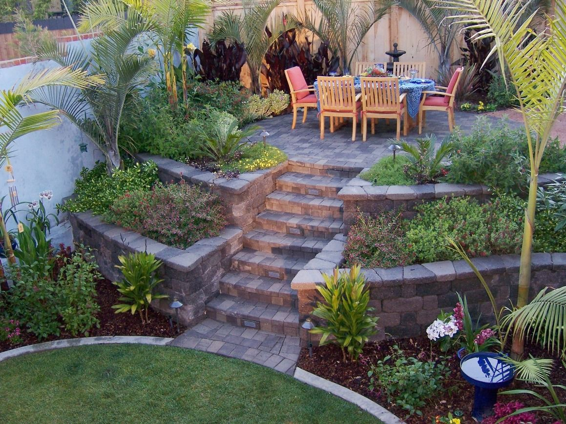 retaining wall ideas | Palm trees grow easily in out sunny ...