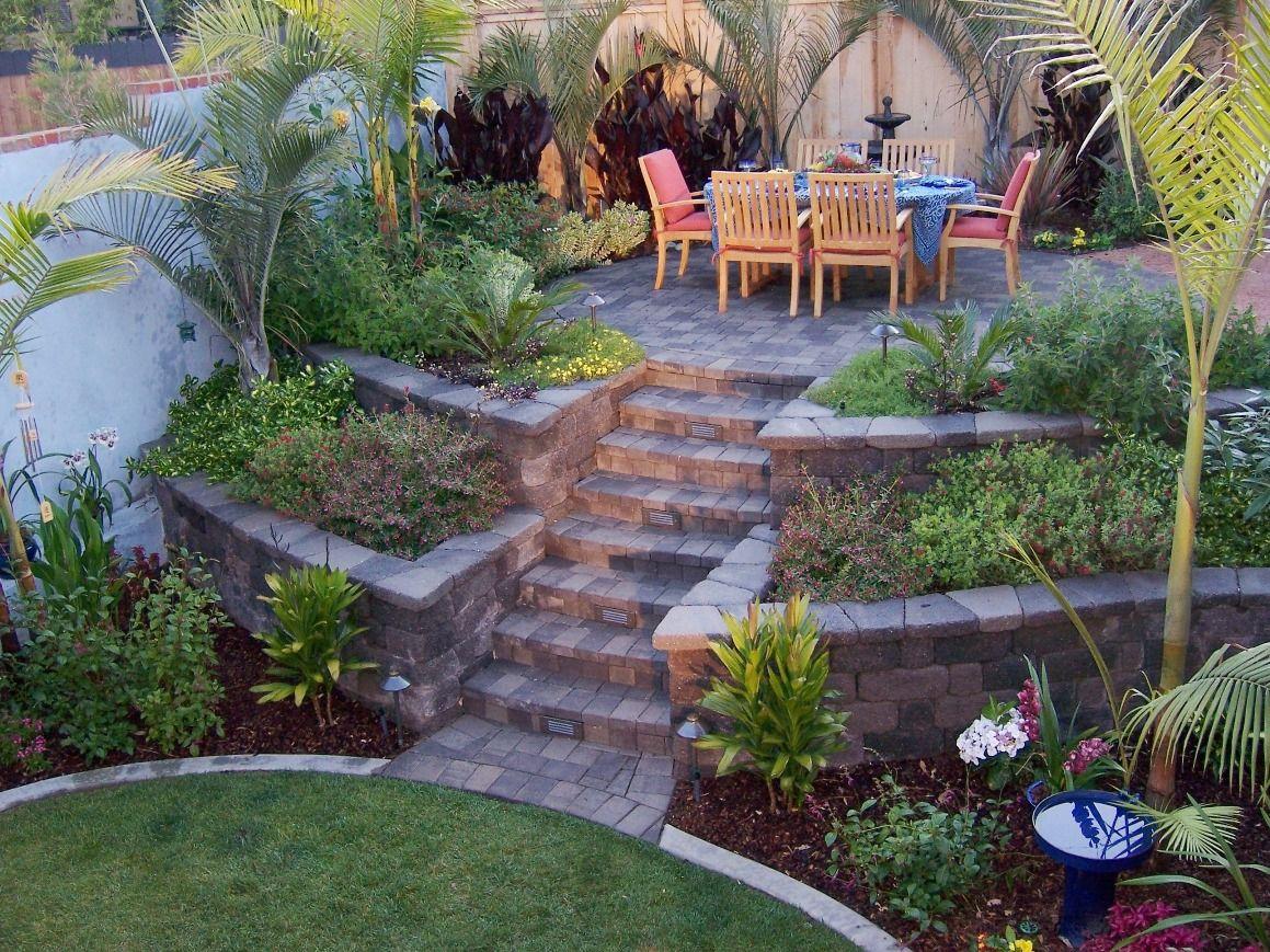 The 2 Minute Gardener September 2011 Backyard Hill Landscaping Sloped Backyard Landscaping Sloped Backyard