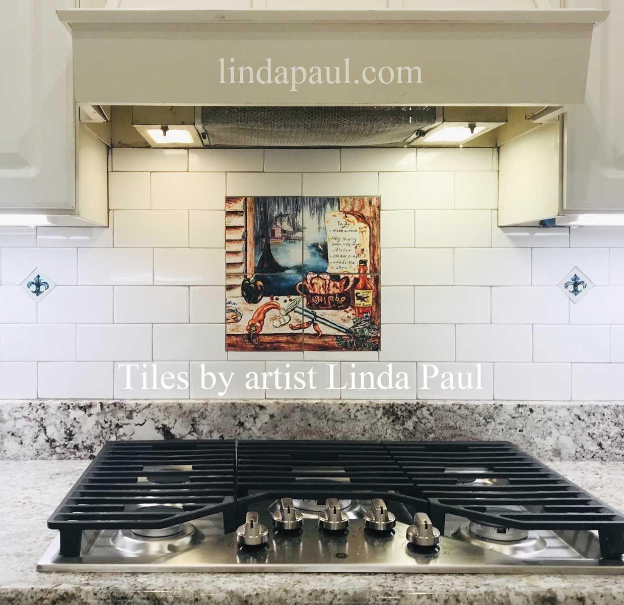 - Louisiana Kitchen Tile Mural Backsplash In 2020 Kitchen Tile