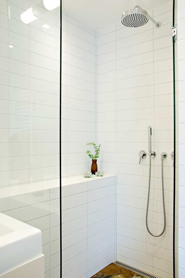 Stacked Oversized Subway Tile With Grey Grout With Images