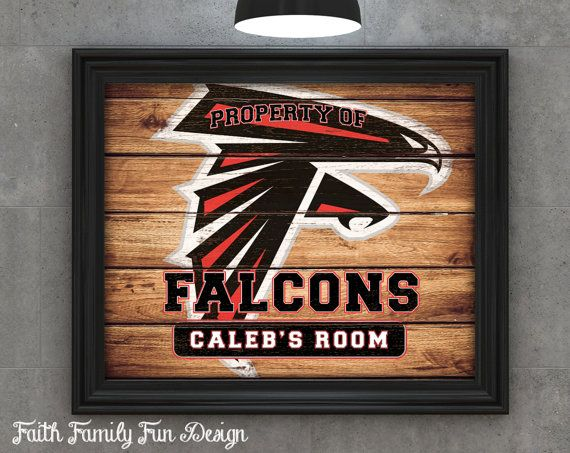 Personalized Nfl Man Cave Signs : Nfl atlanta falcons team sign printable. personalized! man cave