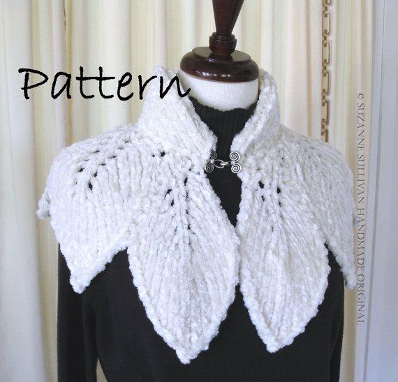PDF, Leaf Capelet PDF, Knitting Pattern, Original Design | Hoja ...