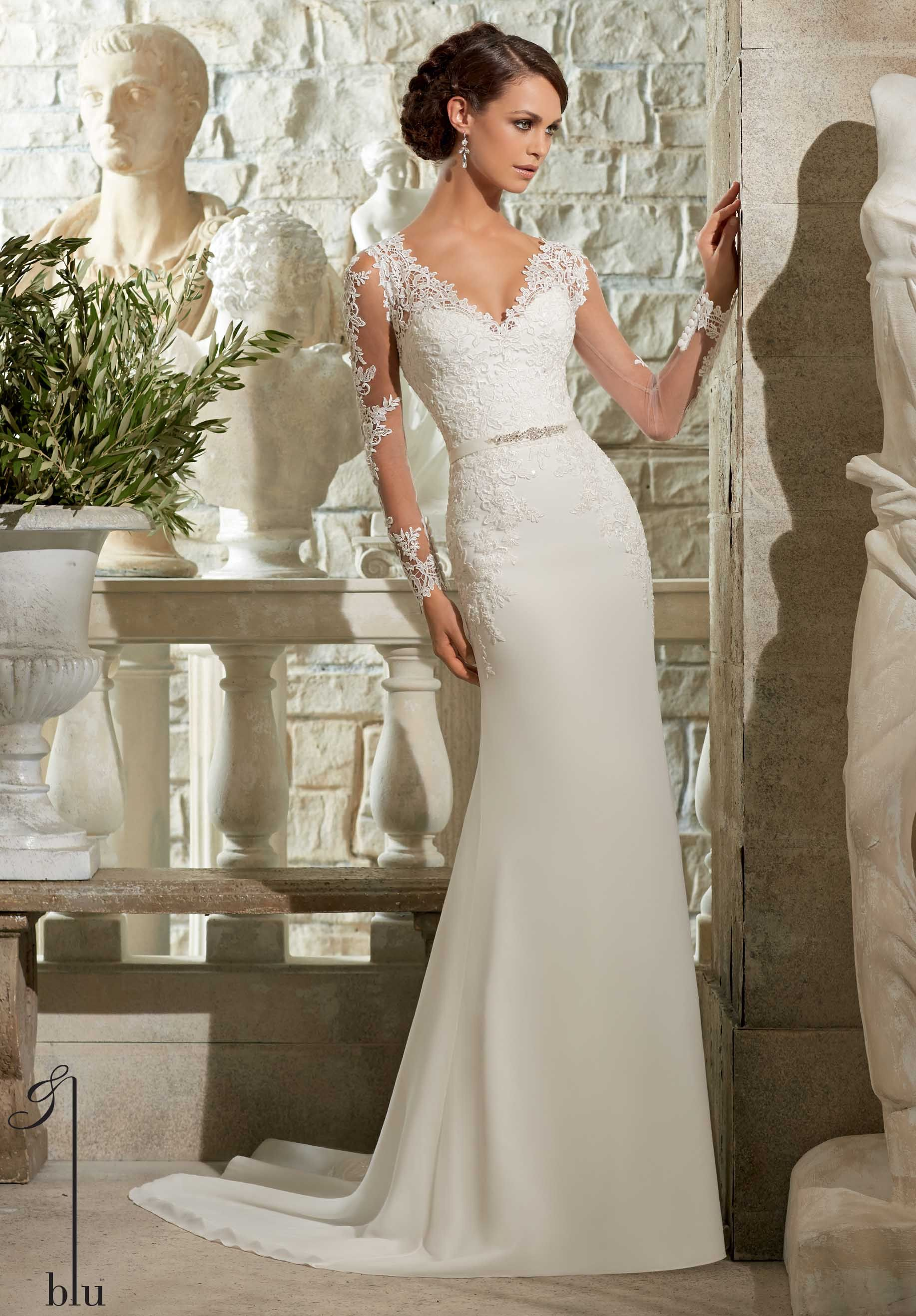 Mori lee by madeline gardner blu collection 2015 my for Madeline gardner mori lee wedding dress