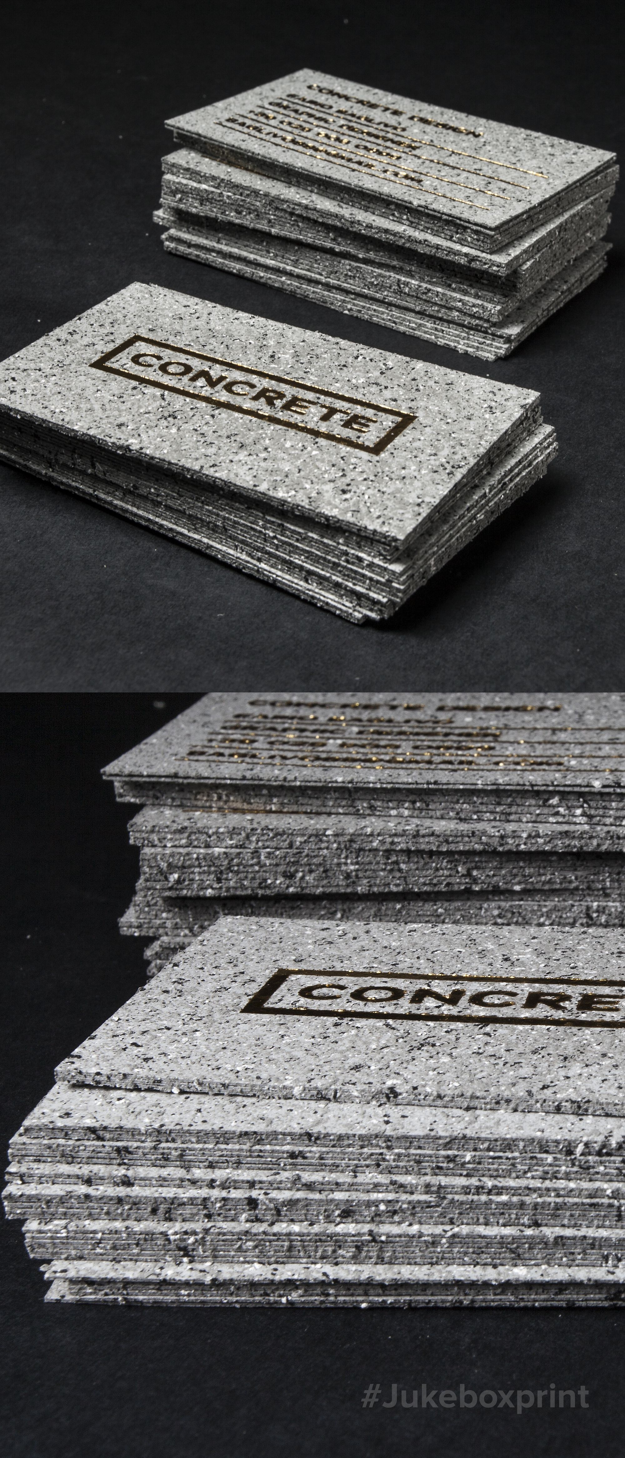 Make an impact with these stone textured business cards produced make an impact with these stone textured business cards produced with gold foil on 36pt by jukebox print colourmoves