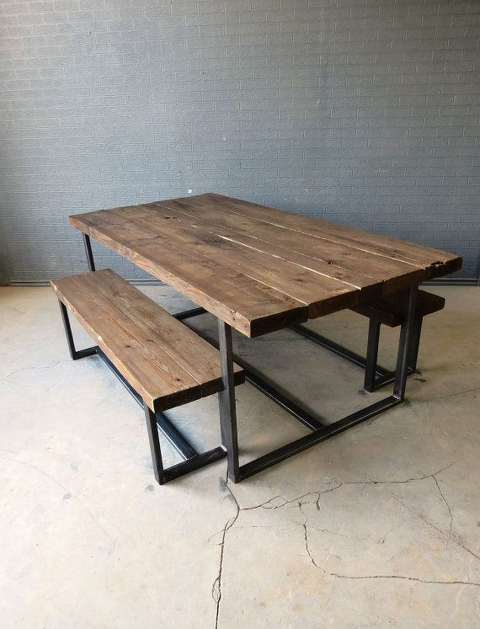 Gartentische Outlet 53 Creative Metal And Wood Furniture Metal Dining Table