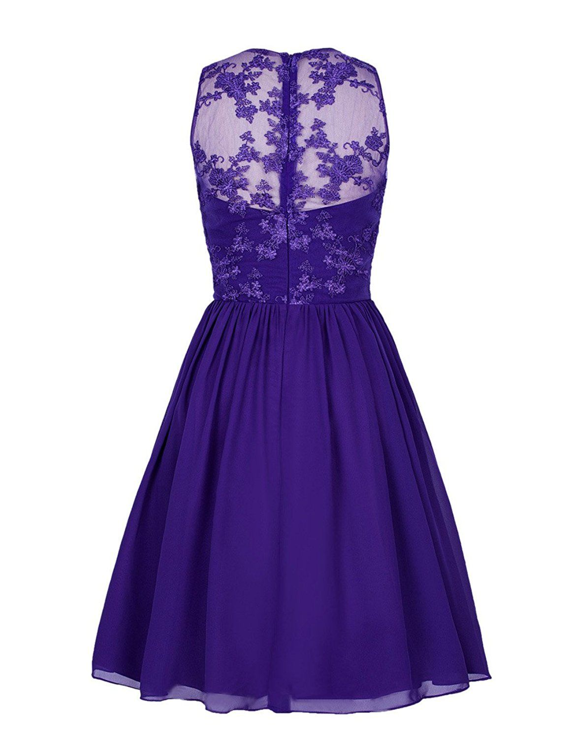 Tidetell 2016 Tidetell Bridesmaid Short Dress Mesh Lace 1950s Cocktail Party Dress Lavender Size 2