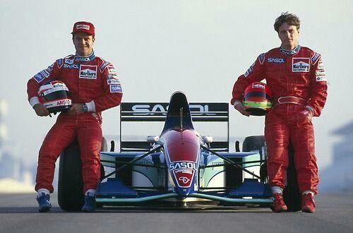 Rubens Barrichello... Eddie Irvine...Sasol Jordan...Jordan 194...Motor Hart 1035 V10 3.5...Test España 1994