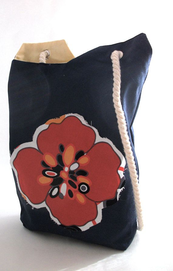 Poppy Tote by all2wonderful on Etsy, $20.00