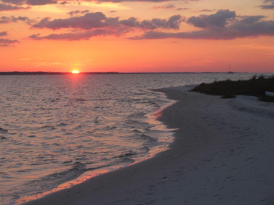 Red Sun Setting by Carol Oberg Riley