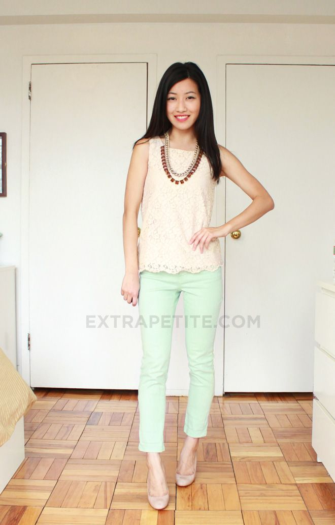 Extra Petite - $32 Spring Outfit: Gap Kids Mint Ankle Jeans & Lace ...