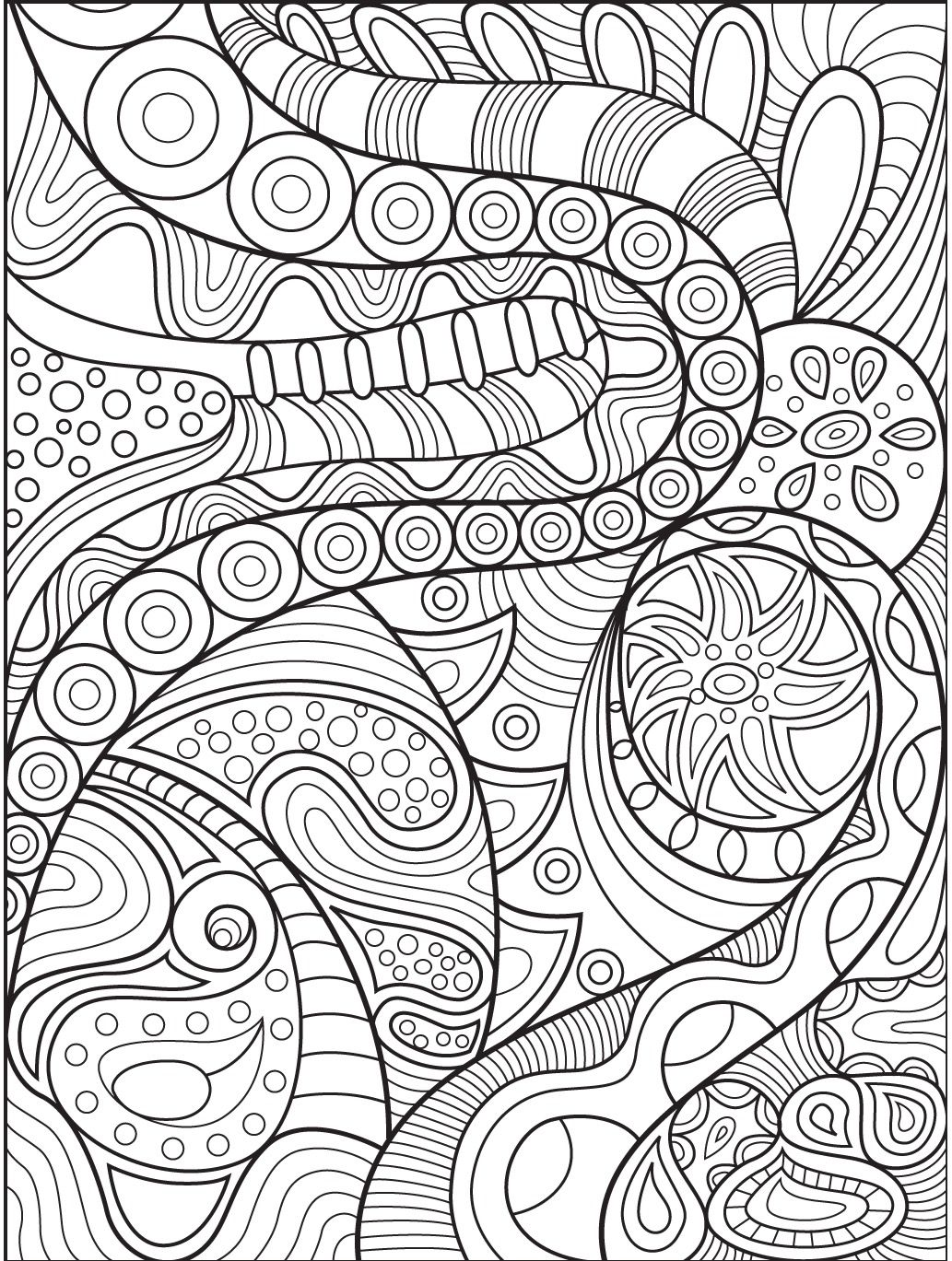 Abstract coloring page on Colorish: coloring book app for adults