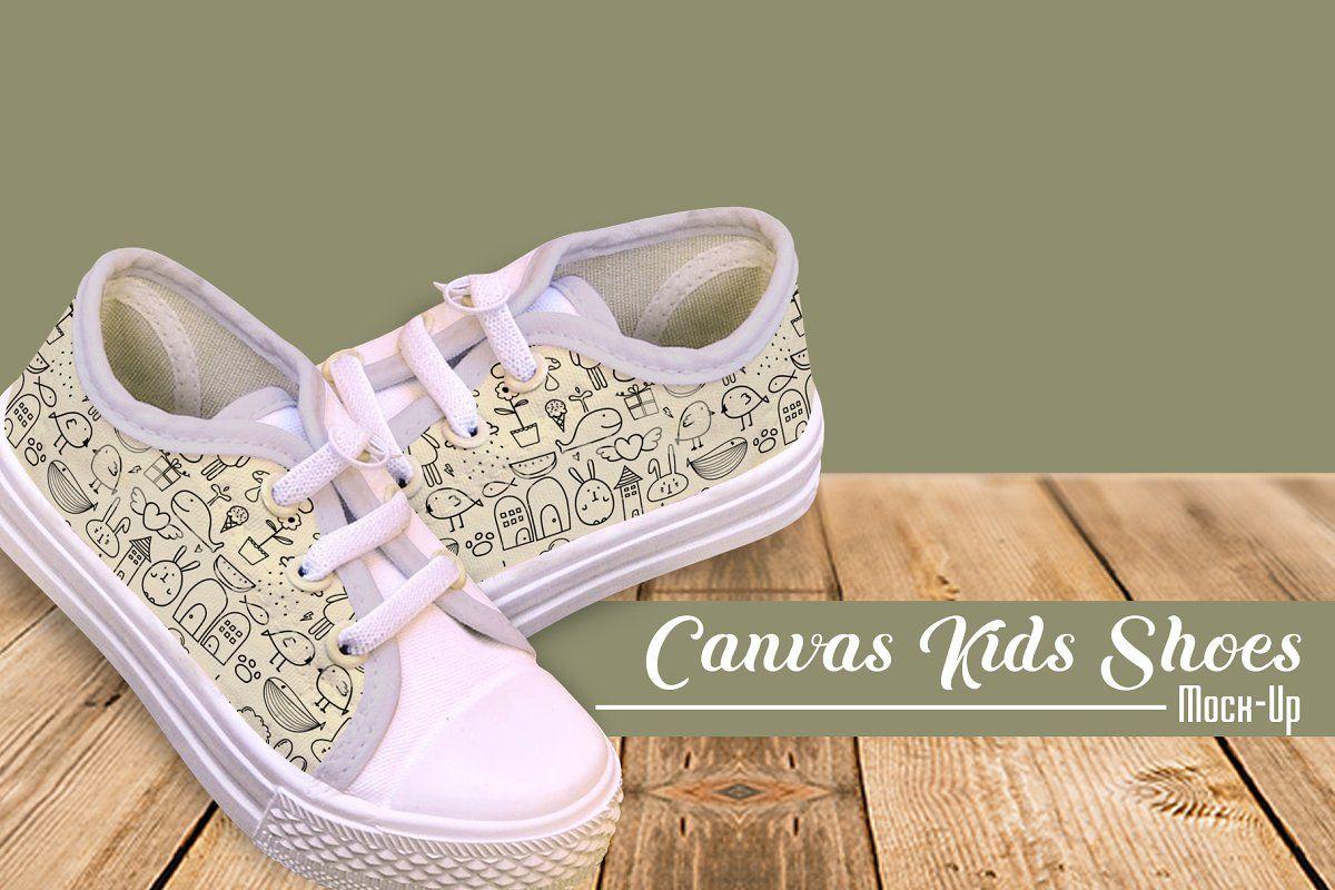 Download Canvas Kids Shoes Mock Up Kids Shoes Shoes Mocking