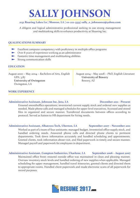 Resume Format Sample 2018 Resume Format Resume Examples