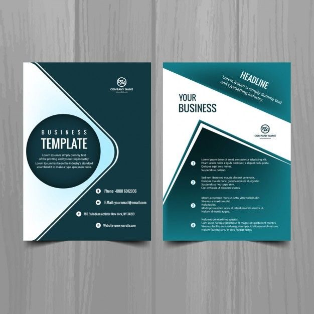Turquoise brochure template Vector