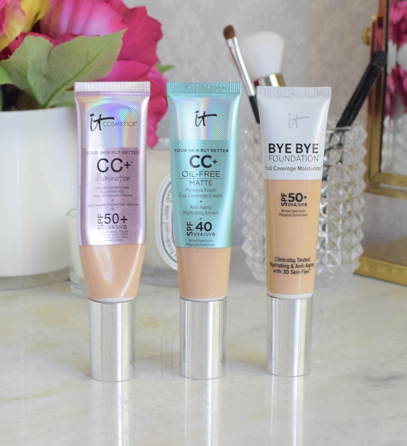 It Cosmetics Cc Cream Oil Free Matte And Bye Bye Foundation It Cosmetics Cc Cream Cc Cream Cc Cream For Oily Skin