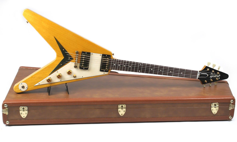guitare gibson custom shop 1959 korina flying v occasion. Black Bedroom Furniture Sets. Home Design Ideas