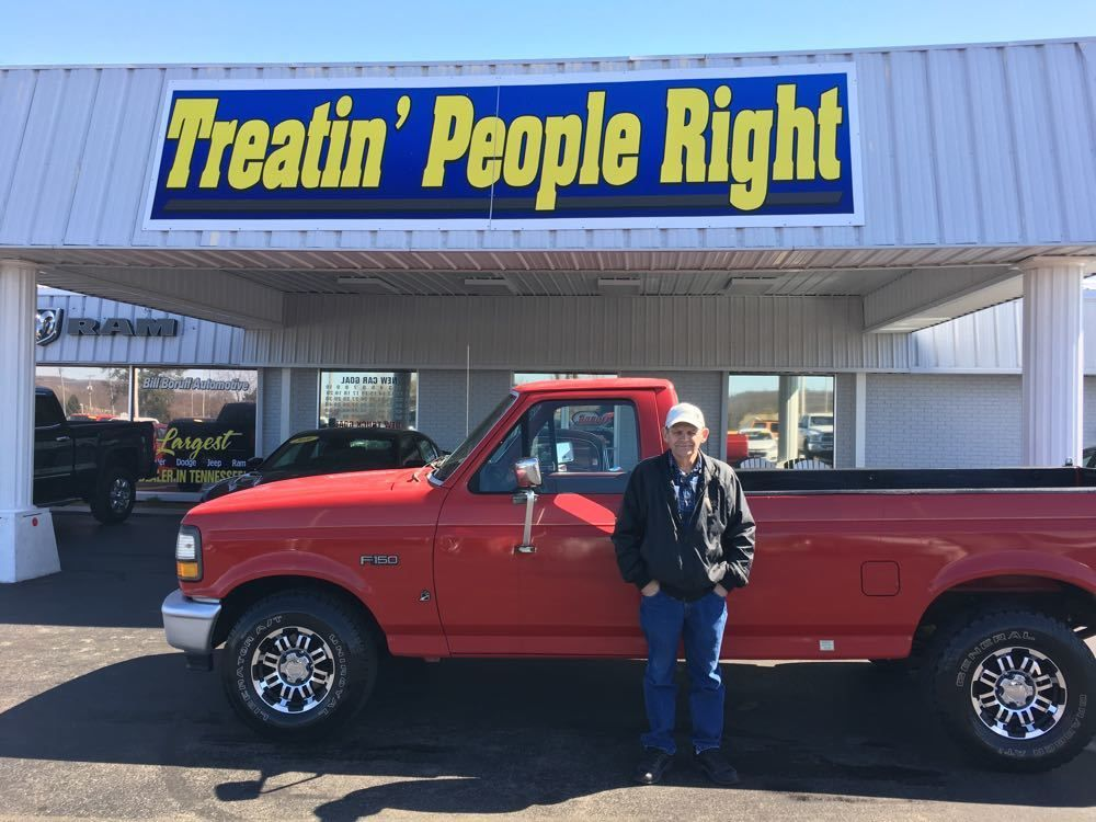 Congratulations Buford Bilbrey on the purchase of your 1996 Ford F-150. We appreciate your business & friendship.