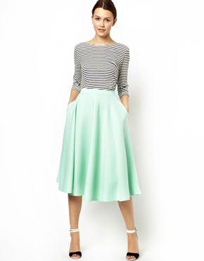 Image 1 of ASOS Full Midi Skirt in Scuba | Style ~ Skirts ...