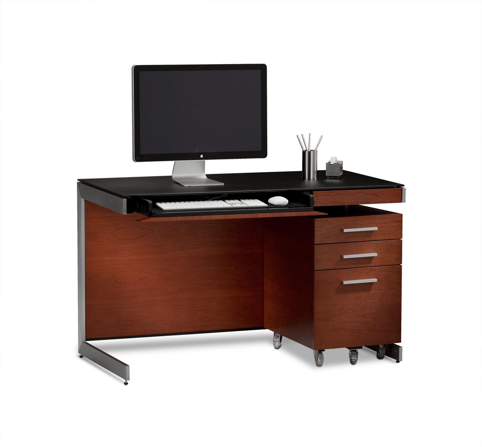 Bdi Usa 29 Sequel Compact Computer Desk With File Cabinet