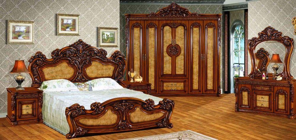 Amazing High Quality Royal Antique Bedroom Set Furniture Excellent ...