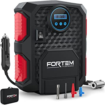 FORTEM Digital Tire Inflator for Car w/Auto