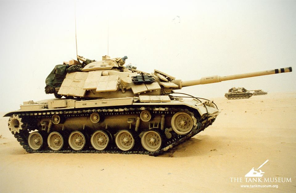 A US Marine Corps M60A1 during the Gulf War of 1990-91 The Gulf