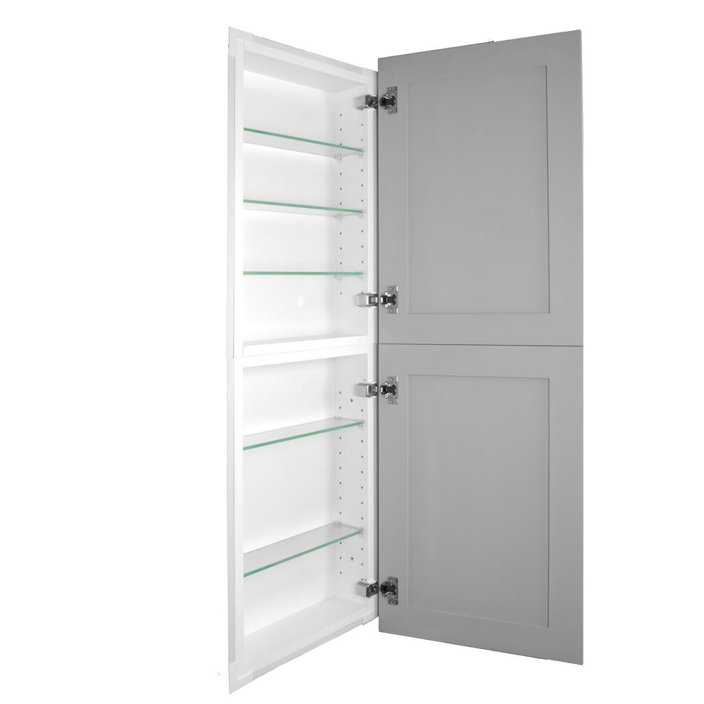 Silverton 14 In X 44 In X 4 In Frameless Recessed Medicine Cabinet Pantry Fr 244 Primed Door The Home Depot In 2021 Recessed Medicine Cabinet Cabinet Pantry Bathrooms Remodel