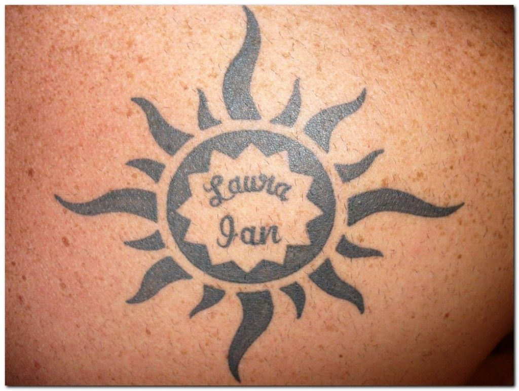 Sunrise tribal tattoo designs tribal sun - Sun And Moon Tattoos For Men Ideas And Designs Top 50 Attractive Tribal
