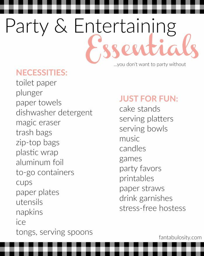 Don39t host a party without this checklist of entertaining essentials Dont host a party without this checklist of entertaining essentials