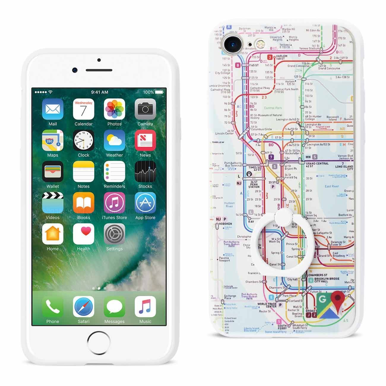 IPHONE 7 NEW YORK SUBWAY MAP DESIGN CASE WITH 360 DEGREE
