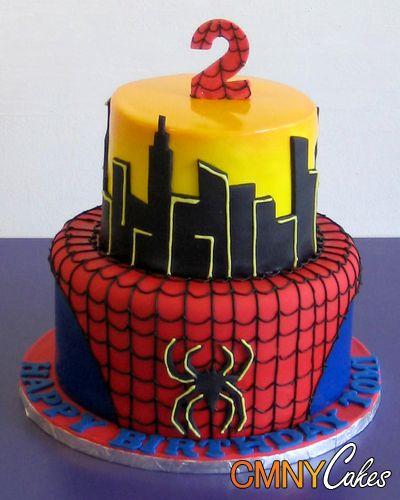 Spiderman 2 Tier Cake - CMNY Cakes Birthdays Pinterest ...
