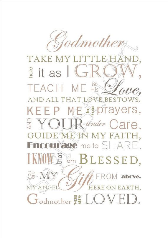 Godmother gift gift for godmother godparent gift godfather godmother gift baptism gift for godparents by sayitinstyleart negle Images