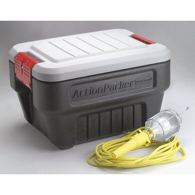 RUBBERMAID 8-Gallon Mini Action Packer Storage Container Sold in packs of 4  sc 1 st  Pinterest & RUBBERMAID 8-Gallon Mini Action Packer Storage Container Sold in ...