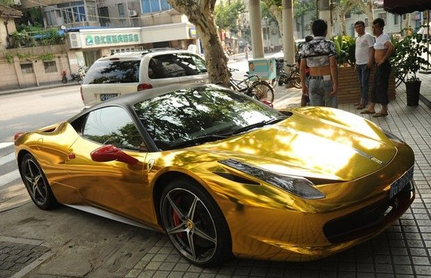 Ferrari Dourada Foto Peter Parks Afp Carros Pinterest Cars