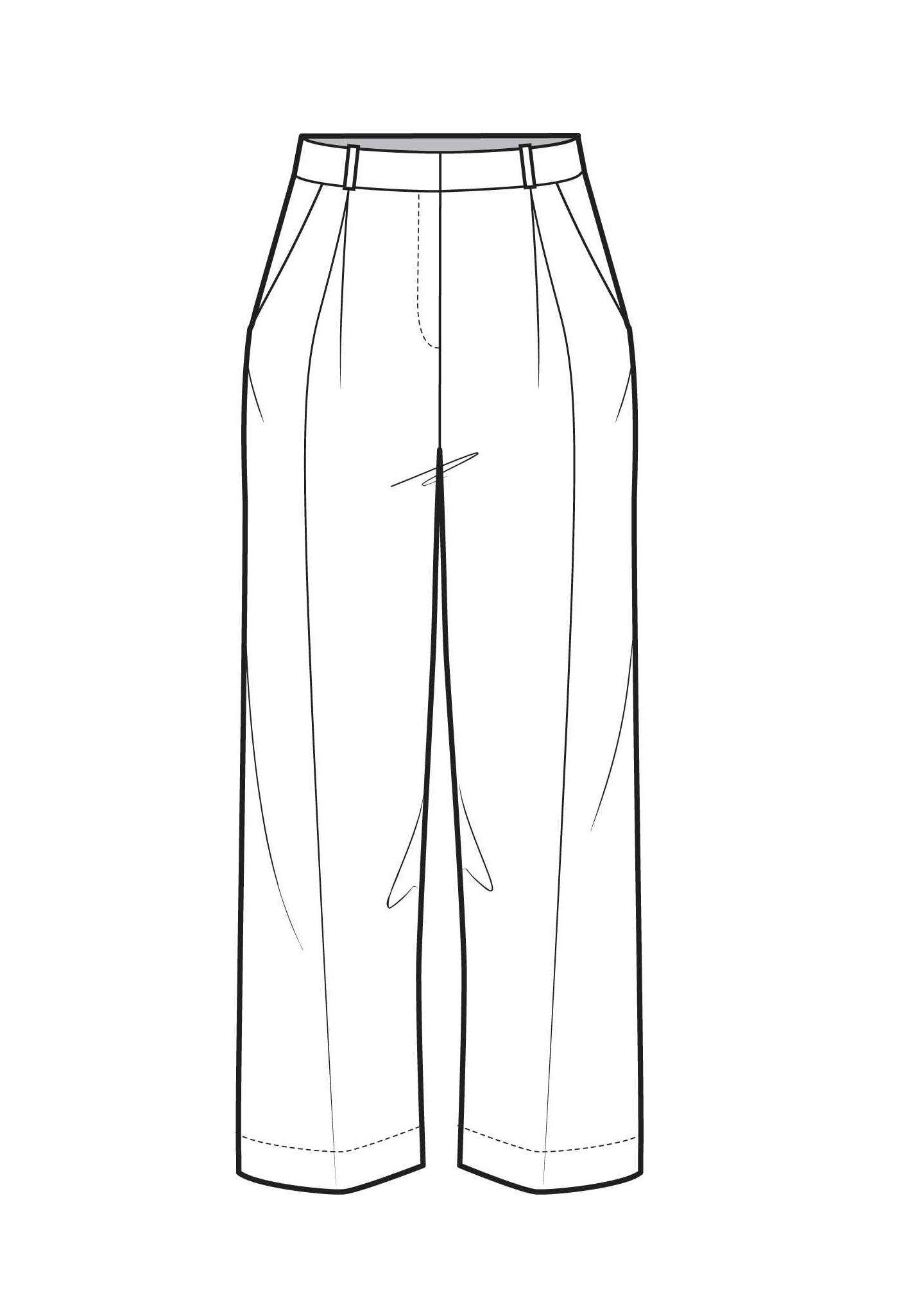 Wide cropped trousers | Sewing | Pinterest | Technische zeichnung ...