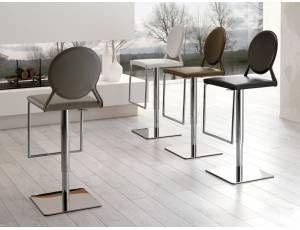Sgabello essence talenti in alluminio verniciato