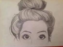 How To Draw Hair In A Bun Google Search Dessin Peinture